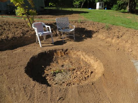 how to dig a pit chickadee gardens a new garden the evolution of a