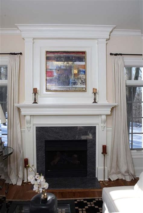 fireplace mantel trim custom fireplace mantles build ins traditional living