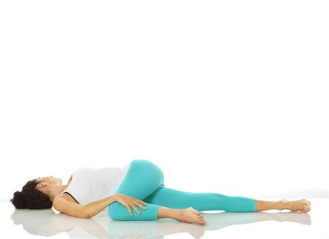 reclining twist stress lowering yoga moves everyday fitness