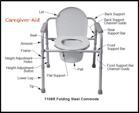 How To Use A Commode Chair by Using A Portable Bedside Commode Caregiver Aid