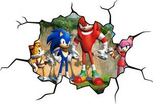 sonic the hedgehog cracked wall effect decal printadream homepage spin collective patterned stickers