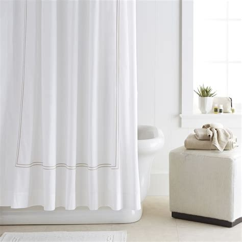 shower curtains hotel style hotel shower curtain williams sonoma