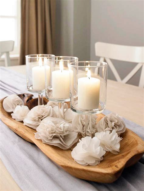 Dining Room Table Centerpieces With Candles 44 Flower Arrangements For