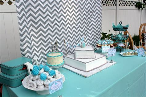 Chevron Baby Shower Decorations by Modern Chevron Elephant Baby Shower Project Nursery