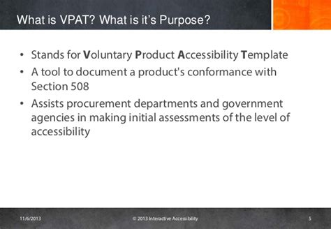 voluntary product accessibility template section 508 challenges with vpats