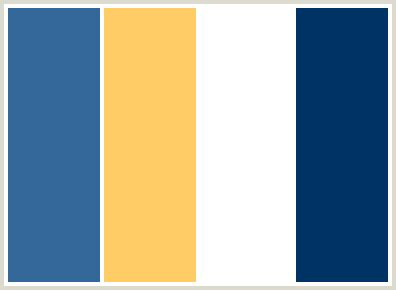 royal color scheme colorcombo99 with hex colors 336699 ffcc66 ffffff 003366