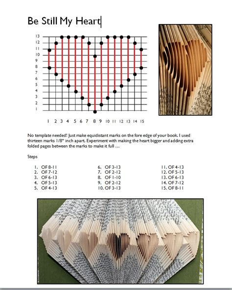 Templates For Folding Books | folded book pattern template heart books book pages