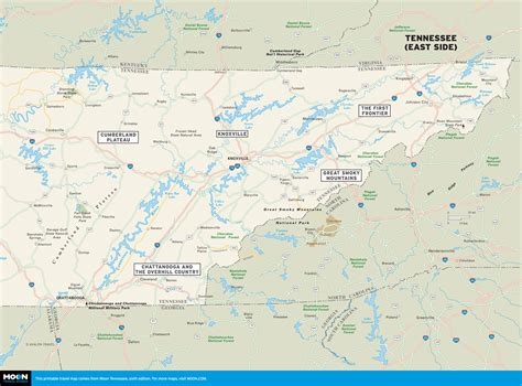east tennessee map color map of tennessee east