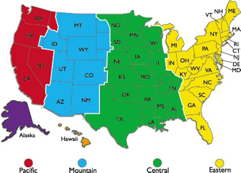 map of usa showing states and timezones us time zone clock united states map