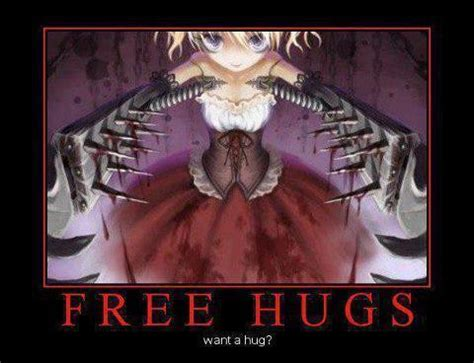 creepy hugs crunchyroll forum anime motivational posters read