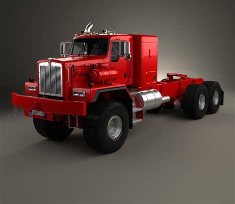 kenworth c500 kenworth c500 tractor truck 2001 3d model humster3d
