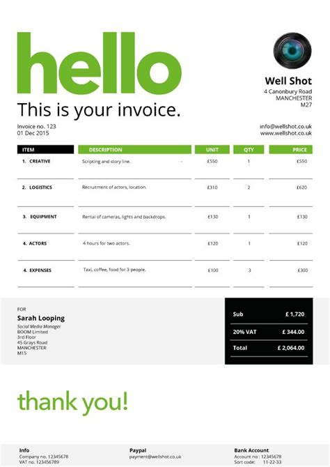 27 Best Creative Invoice Templates For Freelancers Images On Pinterest For The Form Design Creative Invoice Template Free