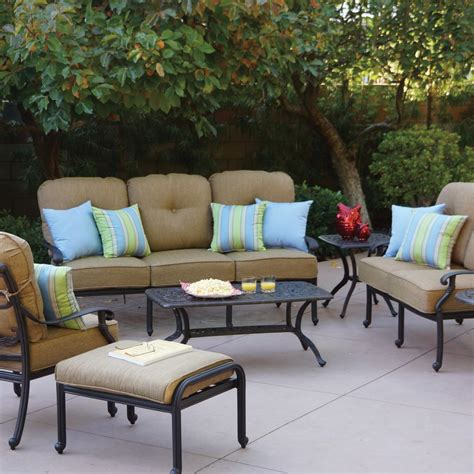 Patio Furniture Conversation Sets Darlee Santa 7 Cast Aluminum Patio Conversation Seating Set Ultimate Patio