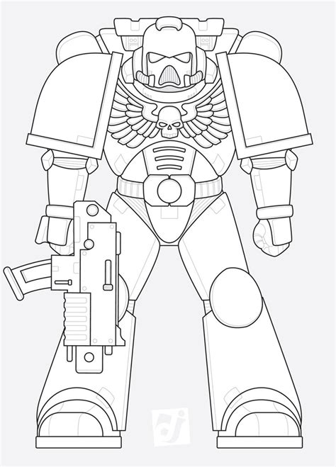 Space Marine Template by Space Marine Template High Lots Of Warhammer