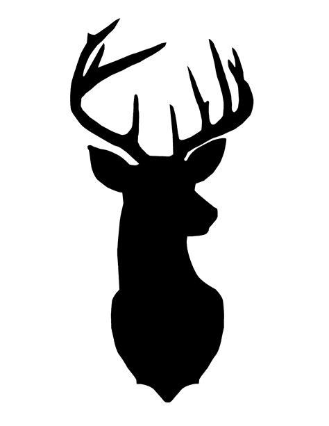 printable vinyl for silhouette free christmas printables deer head silhouette gold