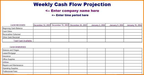 13 week flow forecast template 6 flow forecast template invoice exle