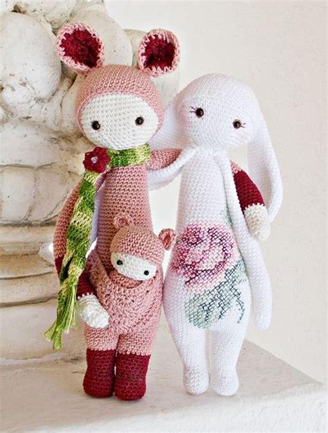Amigurumi Lalylala the kangaroo and the rabbit made by lella crochet patterns by lalylala lalylala