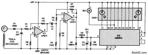 Tesla Coil Receiver Tesla Coil Secondary Receiver Power Supply Circuit
