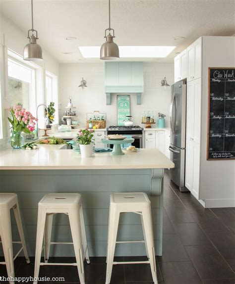 coastal cottage style spring kitchen  house