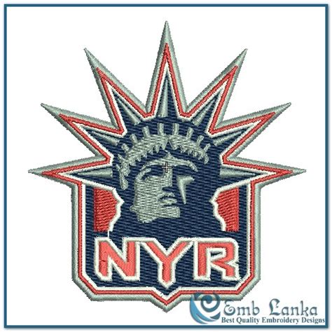 logo embroidery nyc new york rangers alternate logo embroidery design