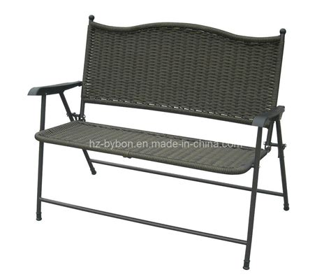 China Patio Folding Wicker Bench C 031 China Folding