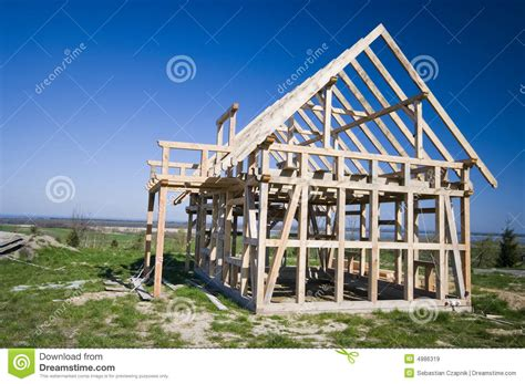 a frame house renovations wooden house frame royalty free stock images image 4986319