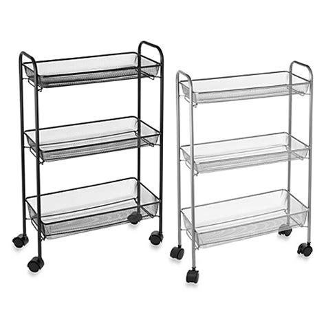Slim Bath Storage Cart Bed Bath Beyond Bathroom Storage Cart