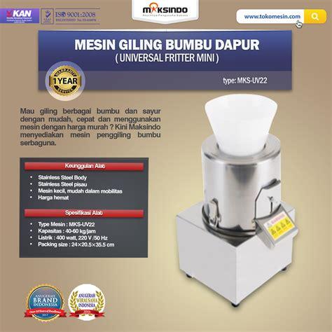 Jual Pisau Dapur Di Semarang jual mesin giling bumbu dapur universal fritter mini di