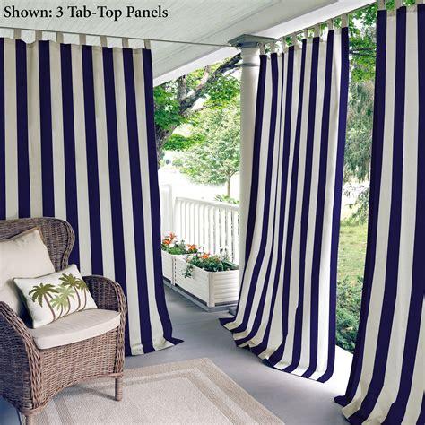 indoor outdoor curtain panels highland stripe navy indoor outdoor curtain panels