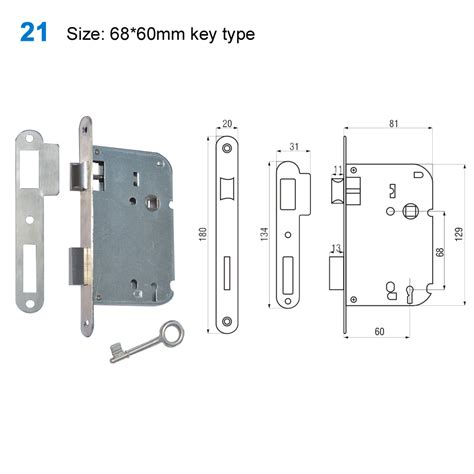Interior Door Lock Mechanism Lock Door Handle Lock Lockmechanism Conjuntosde Interior ручки на планке21size 68 60mm Key Type