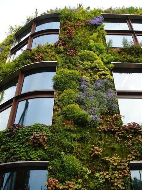 Vertical Garden Building Idealhouse Building With A Vertical Garden Architecture