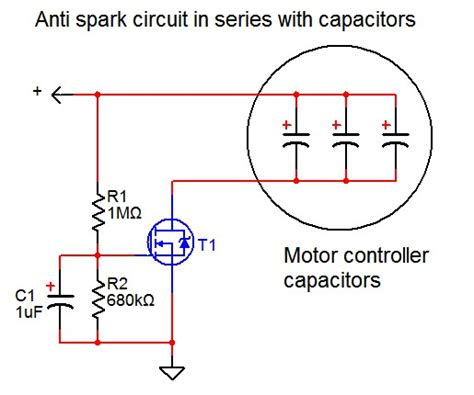 capacitors in a dc circuit motor controller