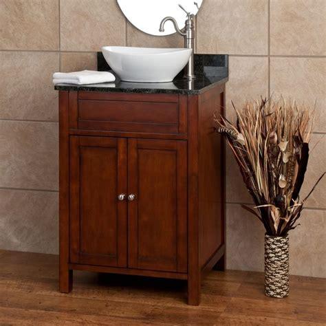 Powder Room Vanity Sink Cabinets by 24 Quot Darin Vessel Sink Vanity Powder Room Ideas