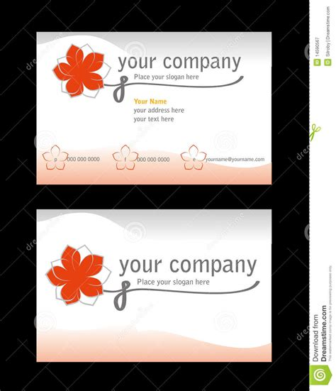 Royalty Free Business Card Templates by Business Card Template Royalty Free Stock Photography