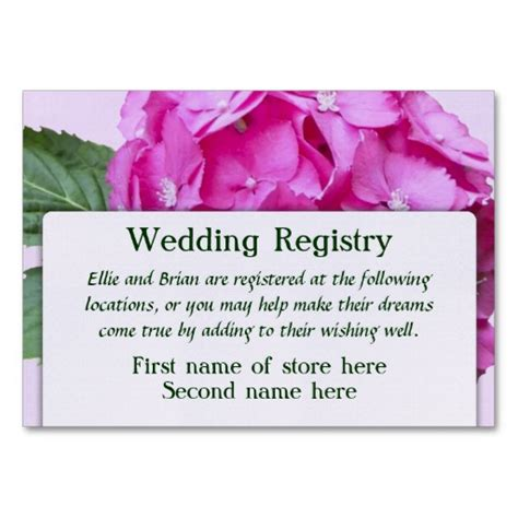 Printable Registry Card Template by 8 Best Images Of Free Printable Wedding Registry Inserts