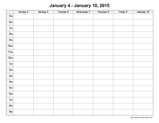 free printable daily time calendar 7 best images of printable daily schedule with time slots