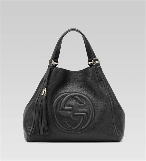 Gucci Bags by Gucci Black Leather Soho Medium Shoulder Bag All