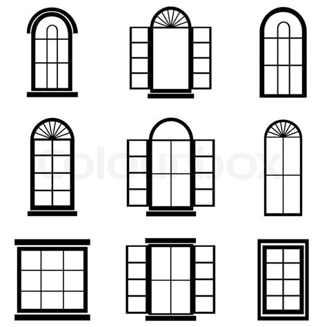 House Build Plans by Window Vector Stock Vector Colourbox