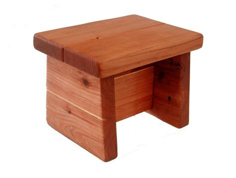 Wooden Foot Stool by Tiny Foot Stool Wooden Stools Forever Redwood