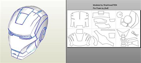 iron suit template robo3687 iron 4 6 pepakura foam templates easy
