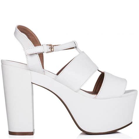buy cruise cut out platform gladiator sandal shoes white
