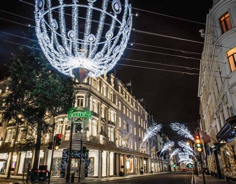 the bond street christmas lights are switched on london