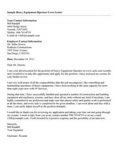 Room Operator Cover Letter by Effective Heavy Equipment Operator Cover Letter Vinodomia