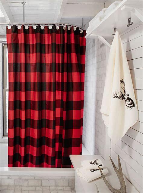 buffalo check shower curtain plaid decor easy home