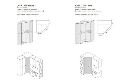 cabina armadio dimensioni minime stunning cabina armadio dimensioni ideas acrylicgiftware