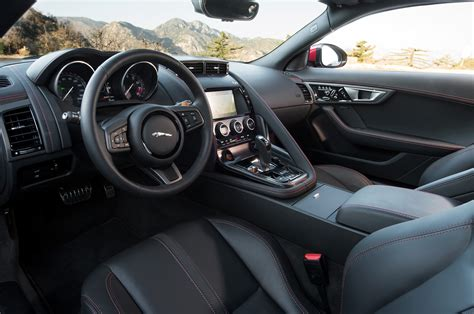 Jaguar F Type R Interior by 2015 Jaguar F Type R Coupe Interior From Driver Side Photo