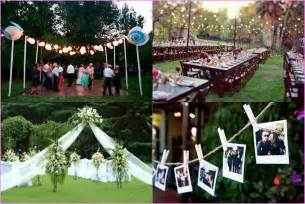 backyard wedding decorations budget cheap backyard wedding ideas home design ideas