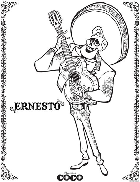 Galerry coloring pages disney coco