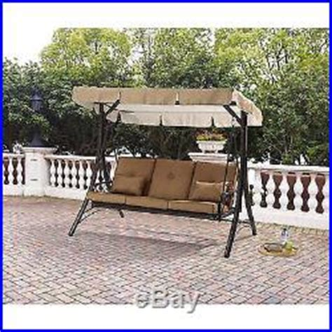 patio swing converts to bed 3 seats porch swing canopy hammock outdoor convertible