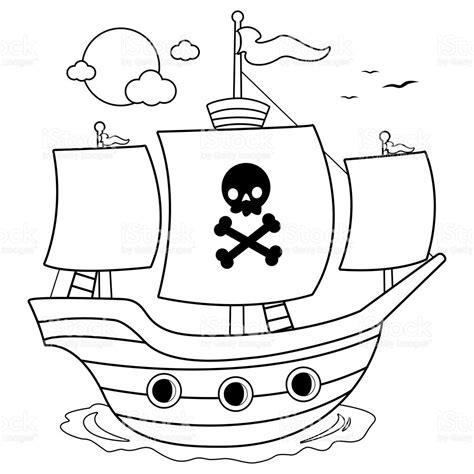 imagenes en blanco y negro de barcos barco pirata blanco y negro para colorear p 225 gina del libro